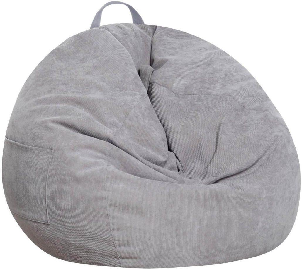 Stuffed animal storage bean bag chair for kids by Sanmadrola.