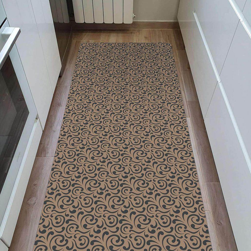 Ultra thin long kitchen rug runner by Shape28.