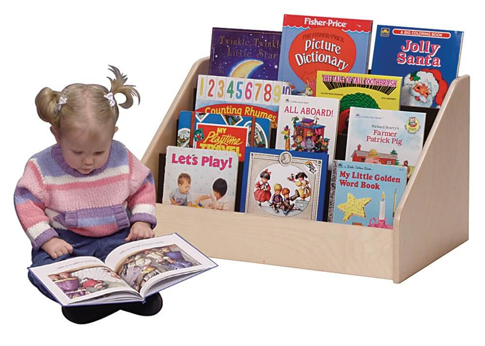 Steffy wooden kids bookshelf.