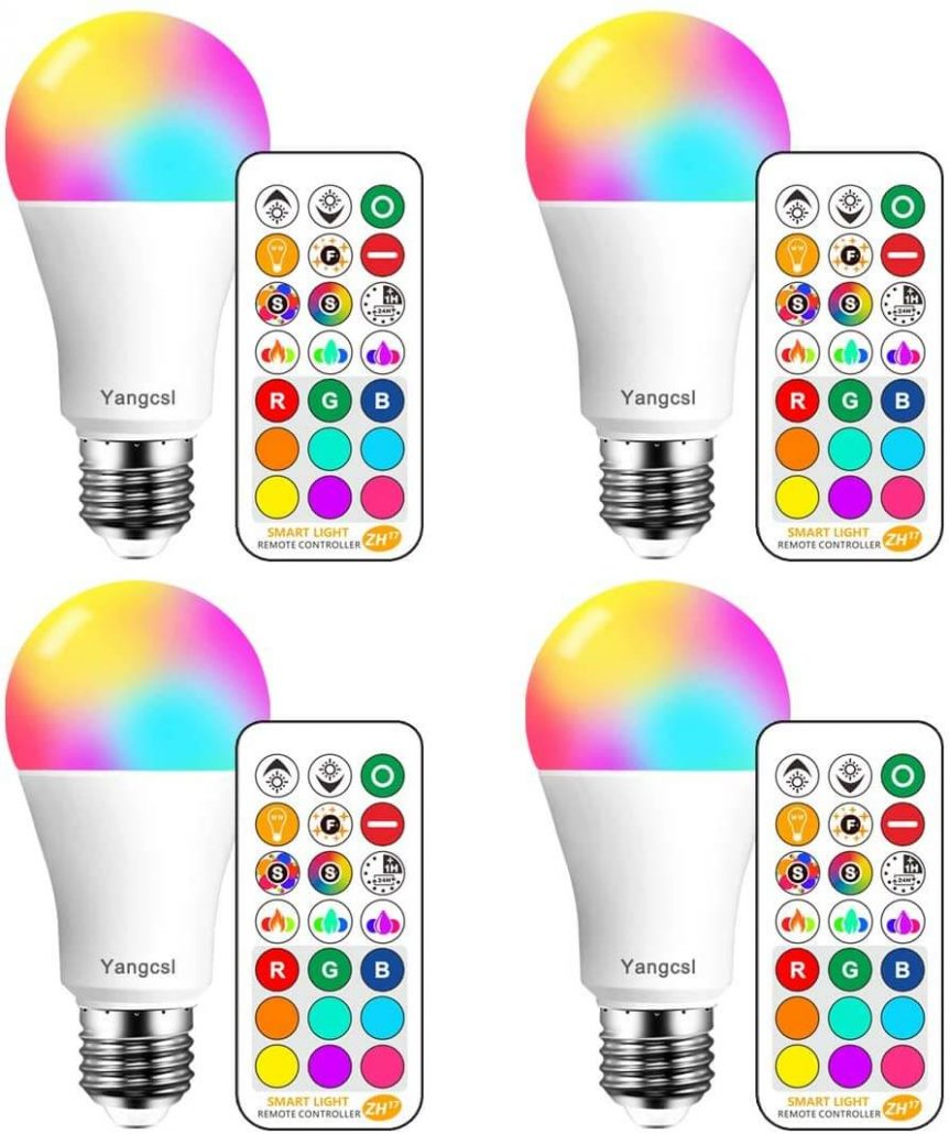 Color changing LED bulbs with remote control by Yangcsl.