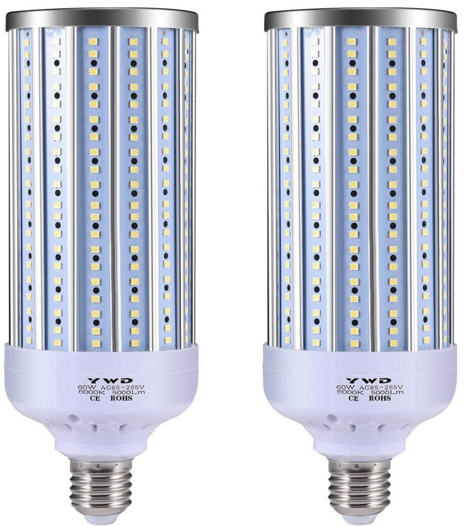 Super bright LED bulbs for garages, barns, and large spaces by YWD.