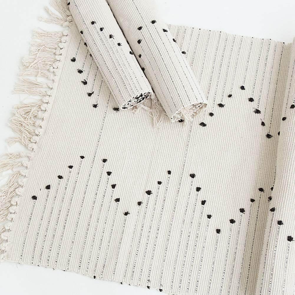 Boho tassled rug runner by Idee-Home.