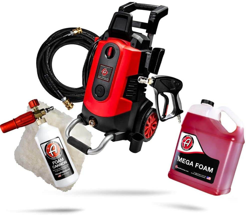 Electric pressure washer for home car wash kit by Adam's.