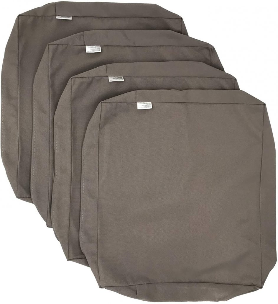Outdoor patio chair cushion covers by Cozy Lounge.
