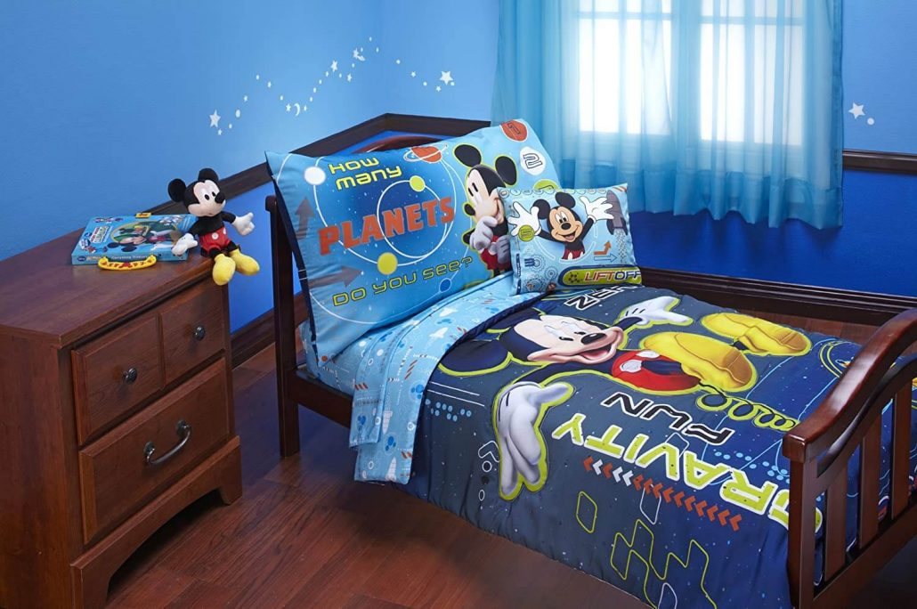 Mickey Mouse in space toddler bed set by Disney.