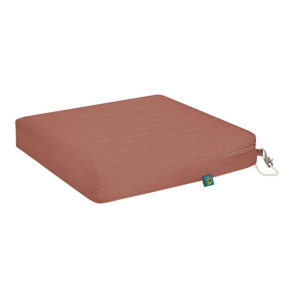 Outdoor dining seat cushion by Duck Covers.