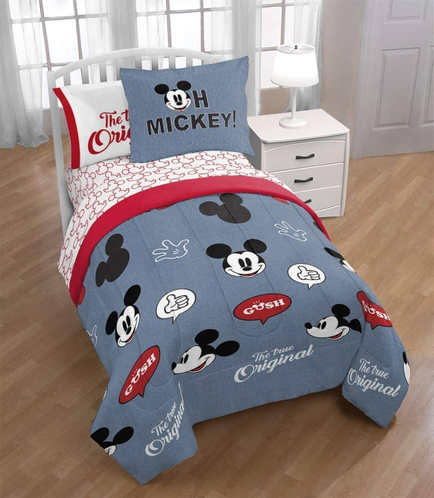 Kids full Mickey Mouse bed set by Jay Franco.
