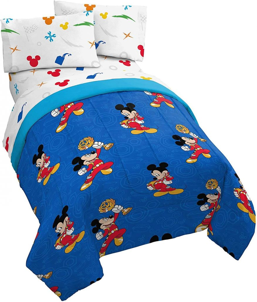 Jay Franco twin mickey mouse bed set for kids.