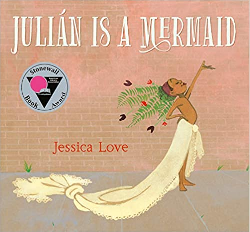Julian Is A Mermaid by Jessica Love multicultural children's book.