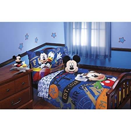 Toddler Mickey Mouse bed set by Disney.