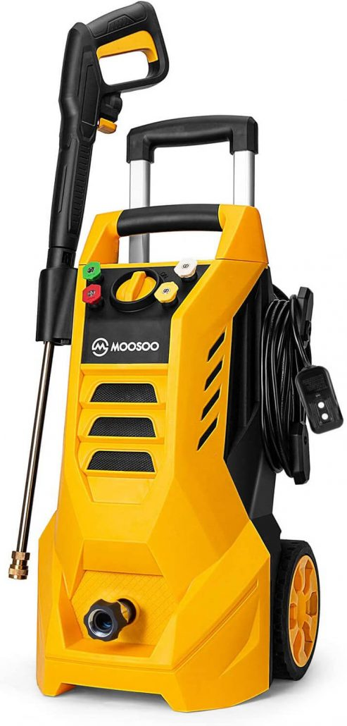 Electric pressure washer for home by Moosoo.