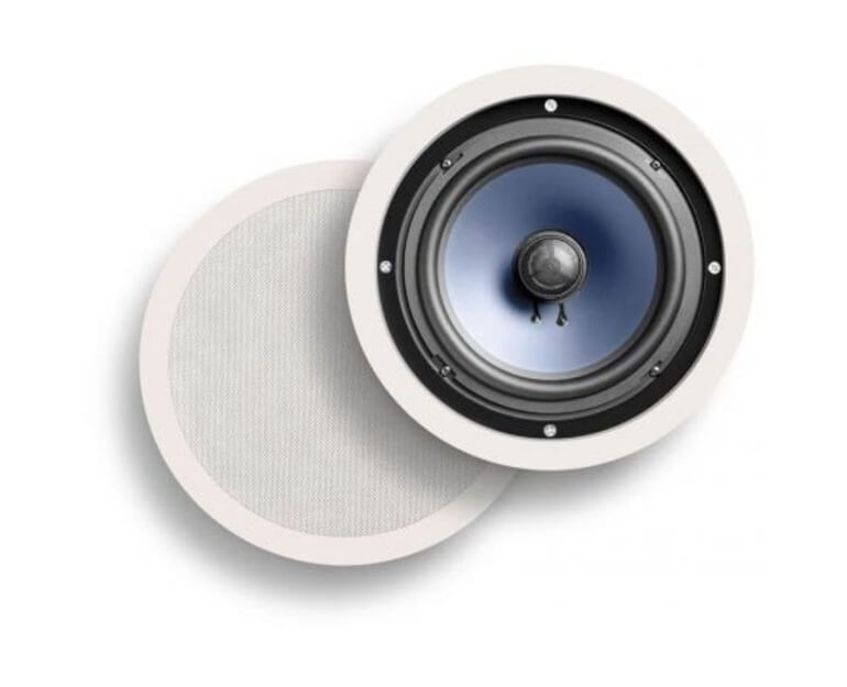 Wall-mounted home speakers by Polk Audio.