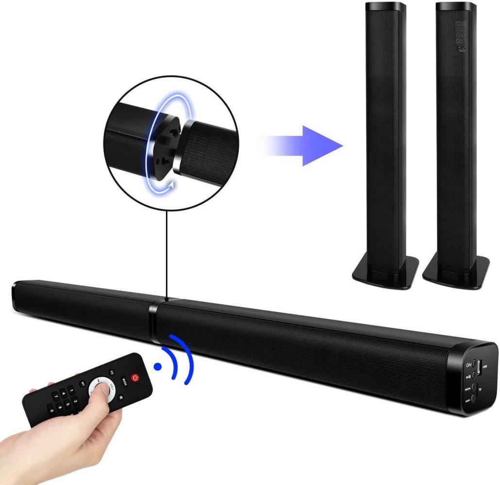 Soundbar speaker for home theater surround sound system.