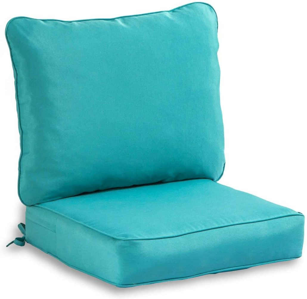 Teal deep seated outdoor cushion set by South Pine.