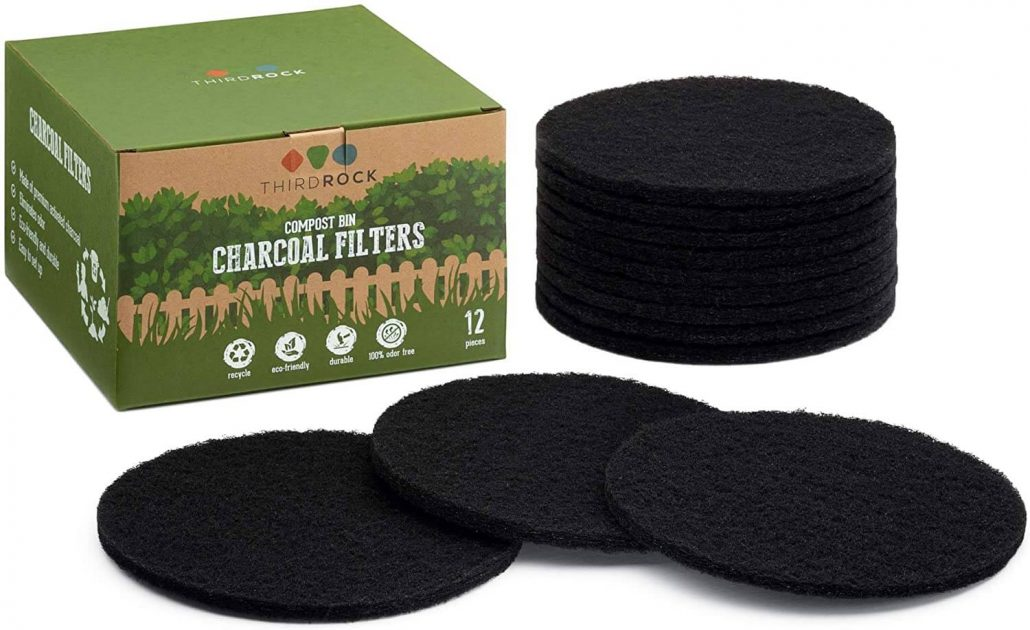 Charcoal filter replacements for kitchen compost bins by Third Rock.