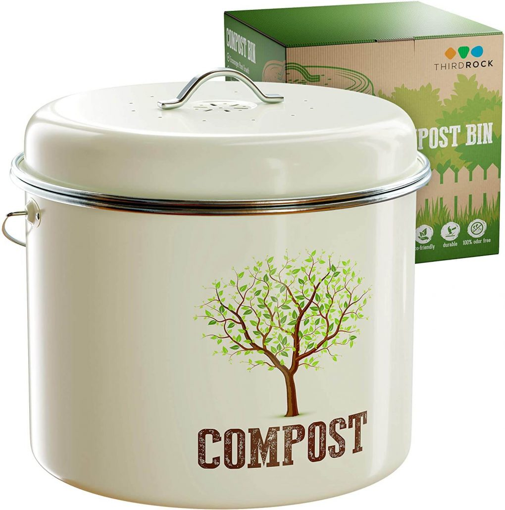 Kitchen compost bin for countertops by Third Rock.