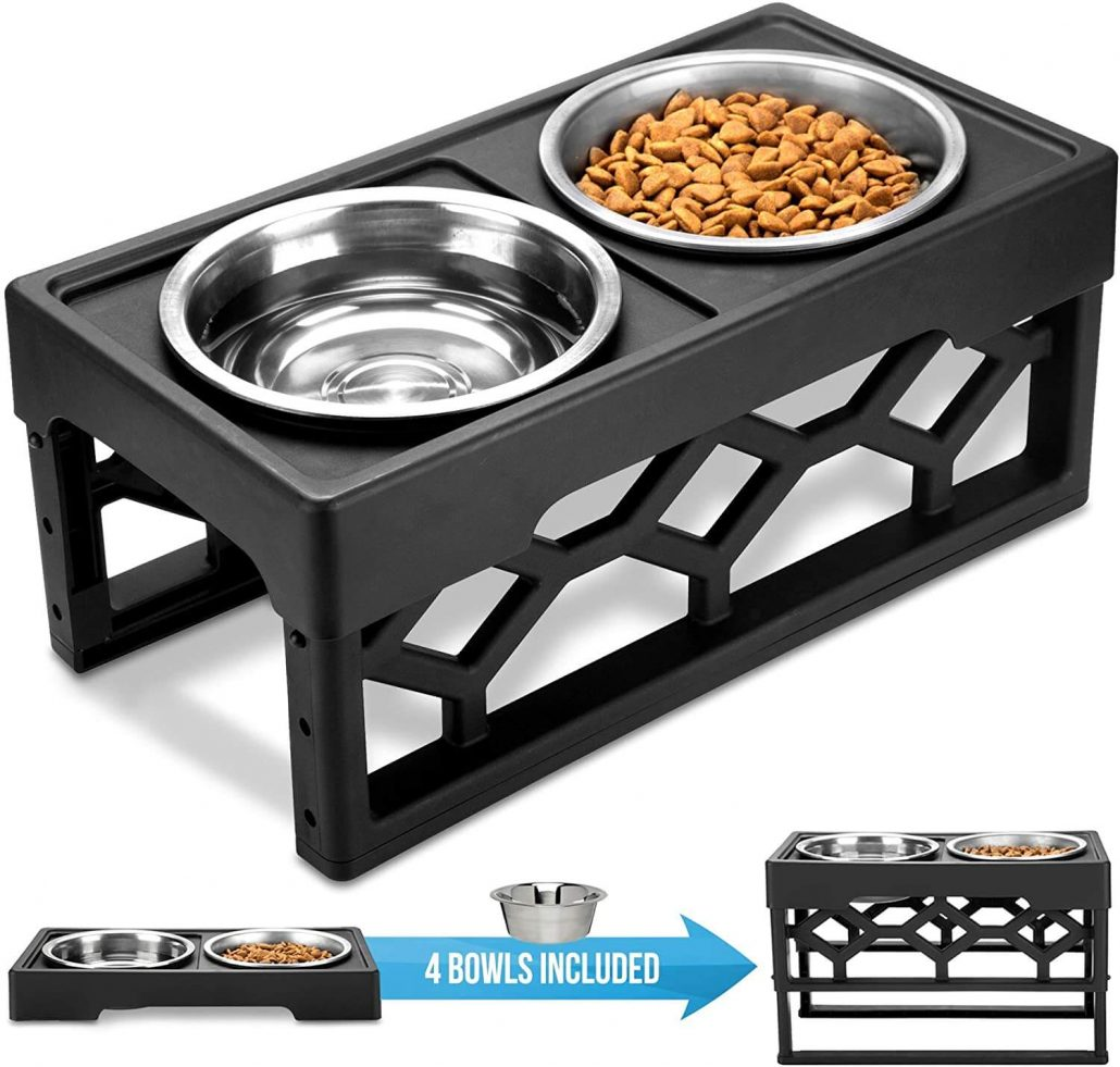 Raised dog bowl stand by Averyday.