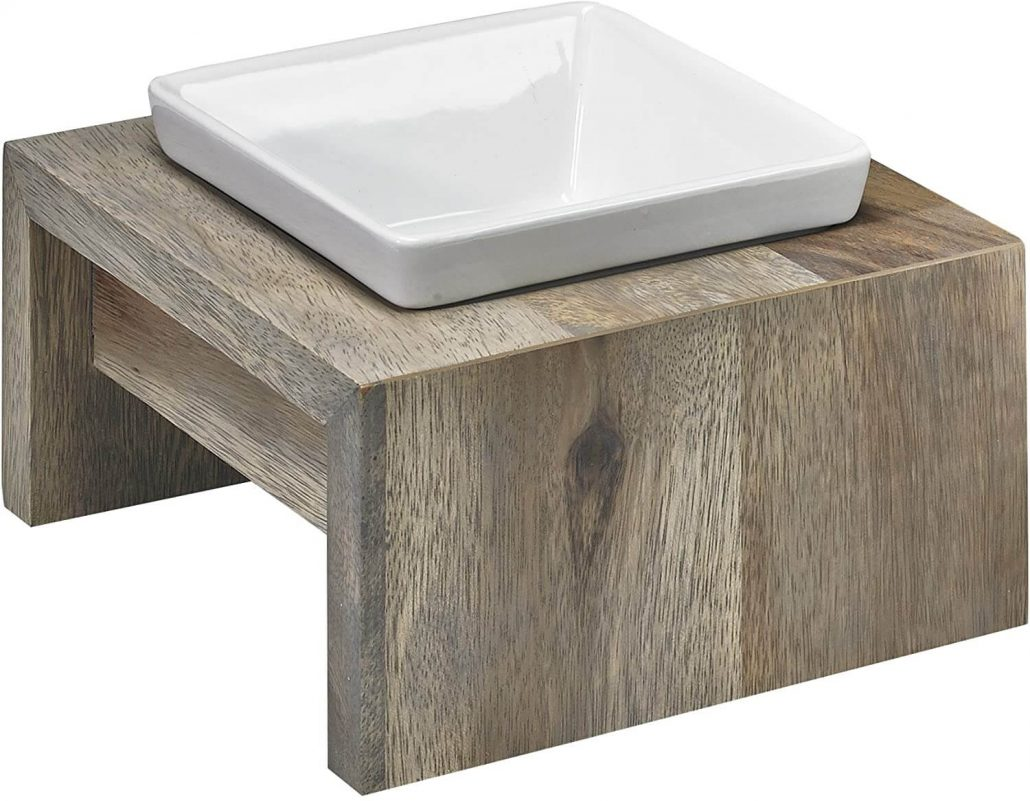 Luxury raised dog bowl stand by Bowsers.