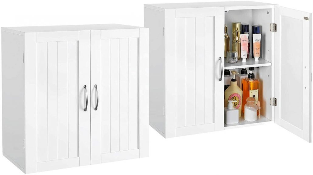 Storage cabinets for laundry room, set of two.