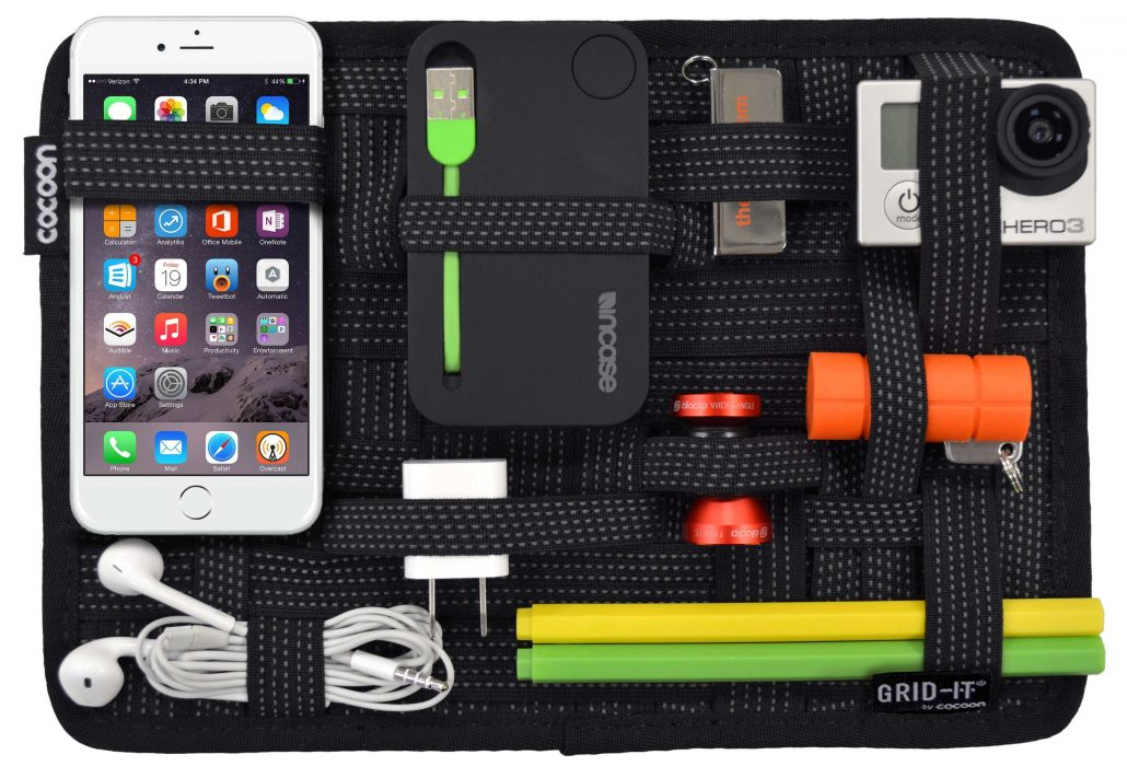 Grid strap electronic organizer by Cocoon.