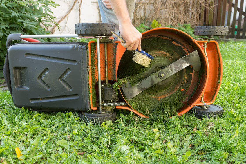 Be sure to clean and store your lawn mower before winter.