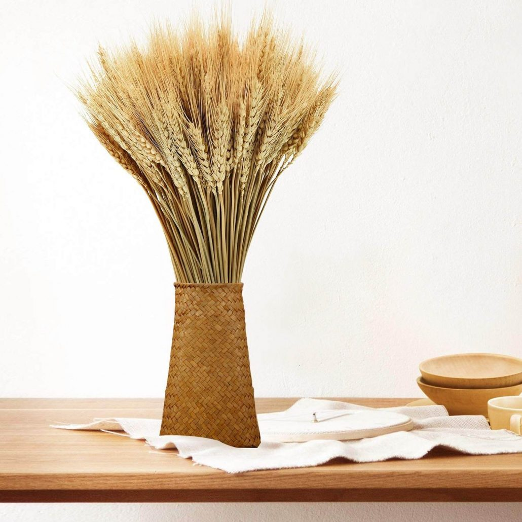 Real dried wheat stalks by Yoleshy for fall home decor.