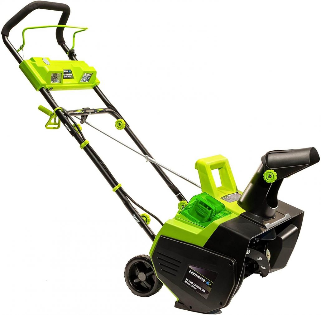 Earthwise electric snow thrower.