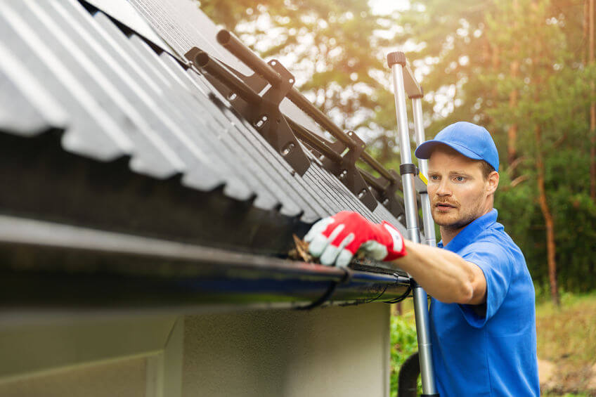 Cleaning your gutters is an important part of fall home maintenance.