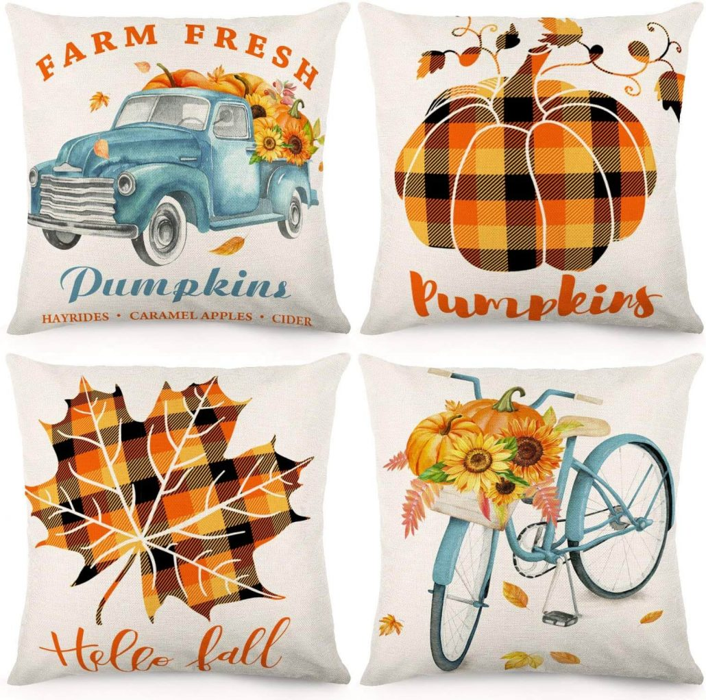 Fall decor pillow covers for home decor.