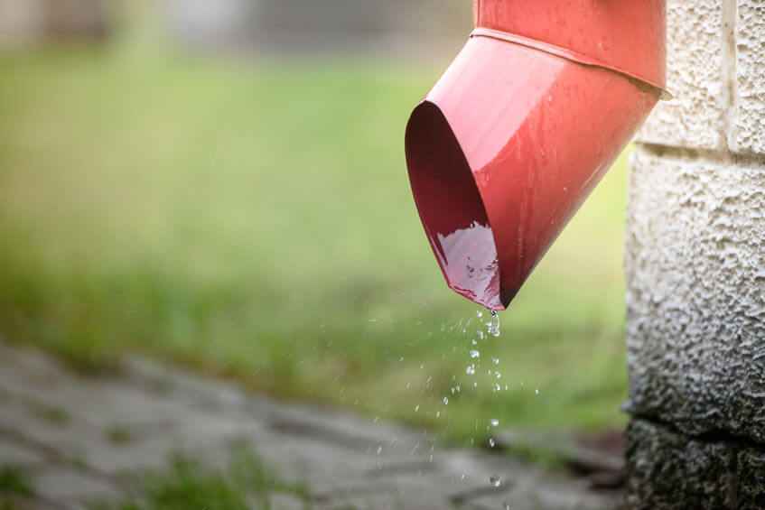 Inspect your drainage systems as part of your fall home checklist.