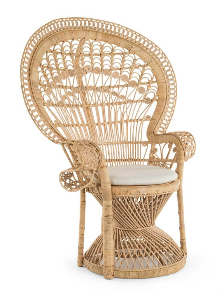 Grand Peacock rattan chair by Kouboo.