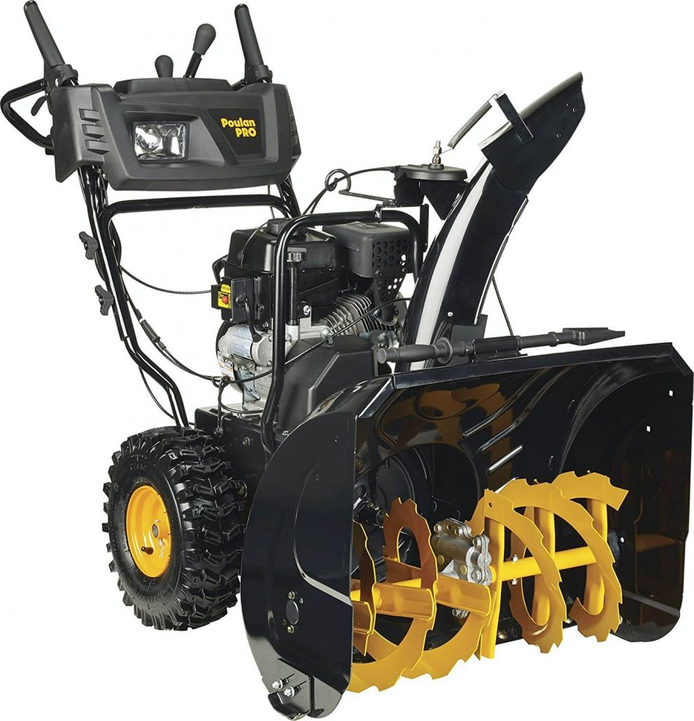Poulan snow thrower for gravel driveway.