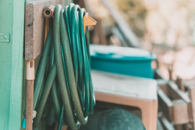 Make sure you put away your garden hoses before winter sets in.