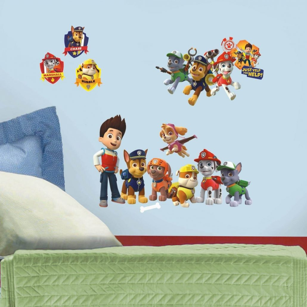 Paw Patrol wall decals for kids by RoomMates.