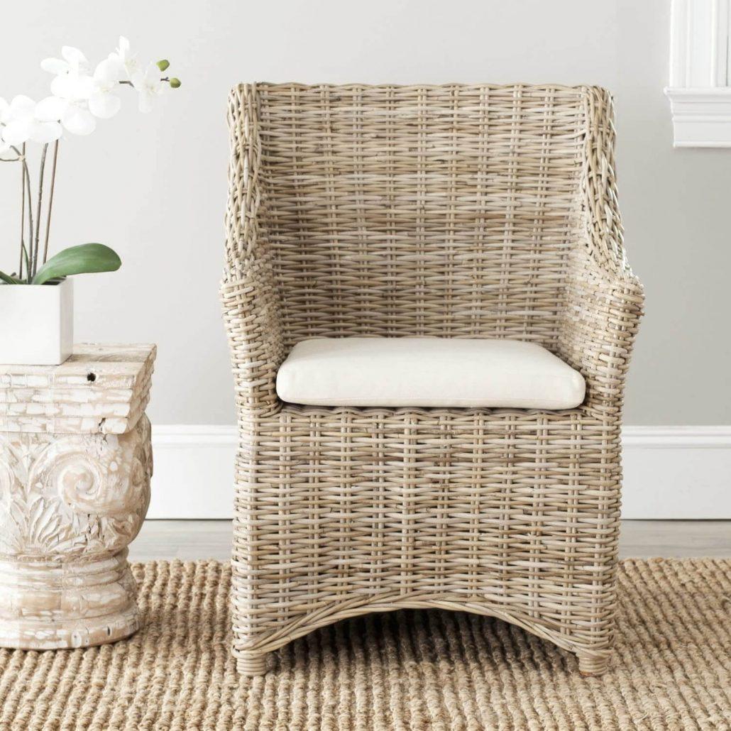 Indoor rattan chair by Safavieh.