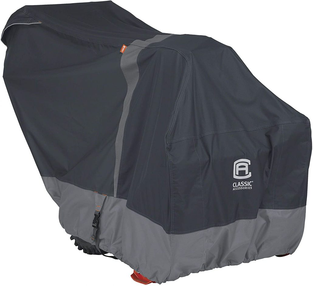 Heavy duty snow thrower cover by Classic Accessories.