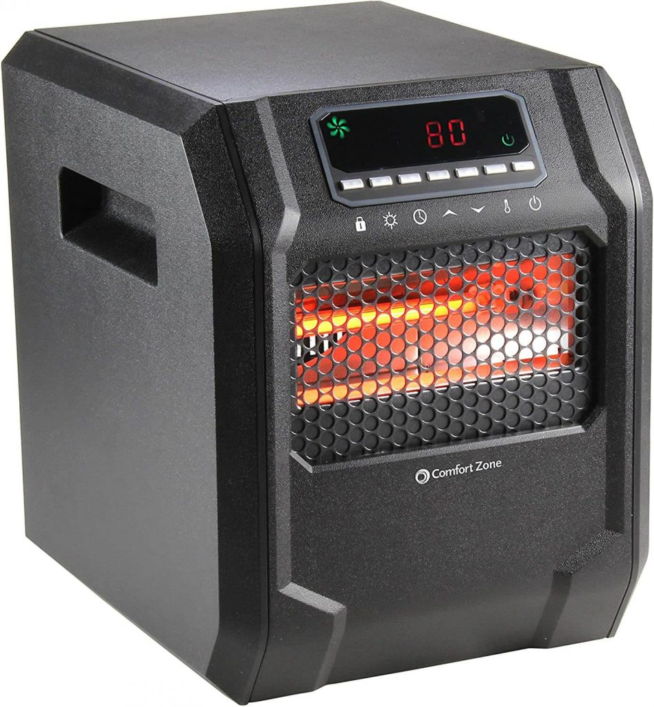 Electric digital space heater by Comfort Zone.