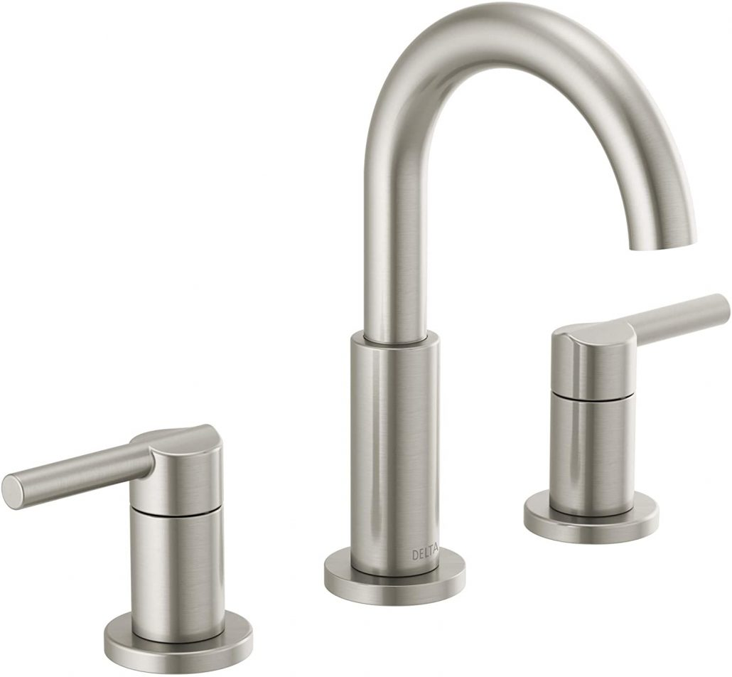 Nicoli faucet for bathroom remodeling by Delta Faucet.