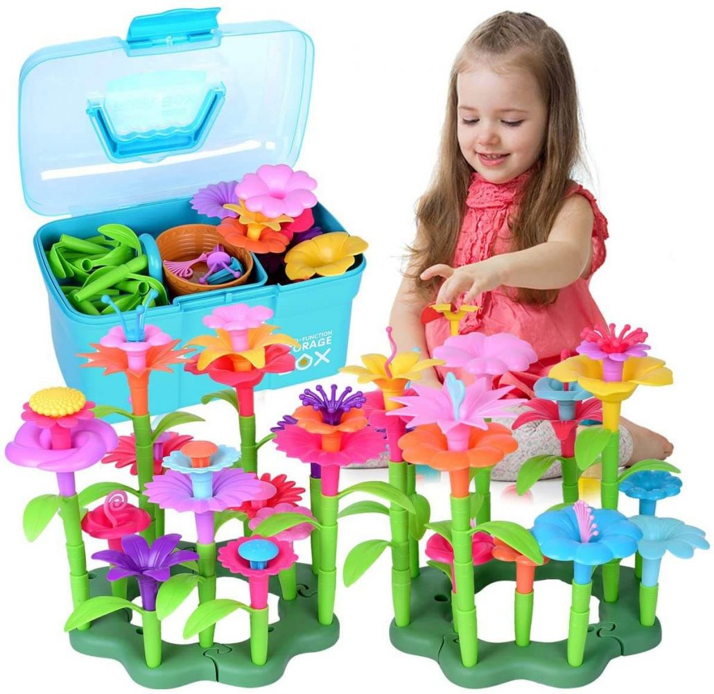 Flower garden building toy for toddlers, educational toy.