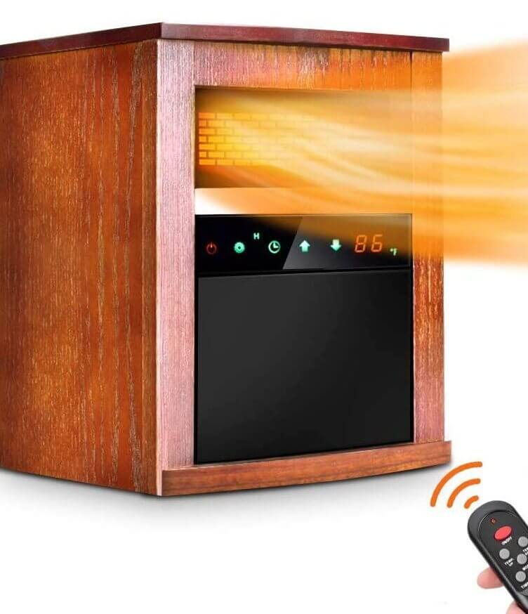 Trustech infrared space heater with remote control.