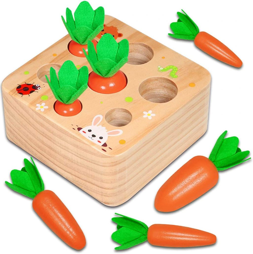 Educational Montessori harvest game for toddlers.