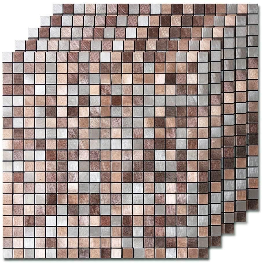 Easy peel-and-stick tile backsplash for bathrooms.