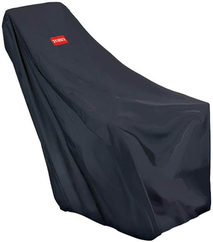 Single-stage snow blower cover by Toro.
