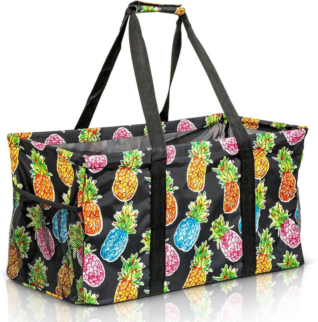 Extra-large collapsible tote bag for women.