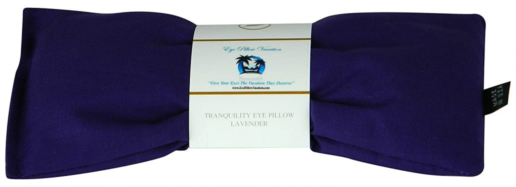 Natural lavender eye pillow for stress relief.