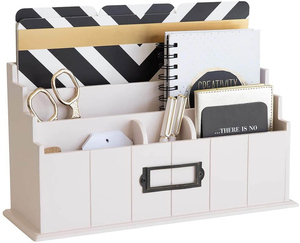 Mail organizer for desk makes a great gift for Mom.
