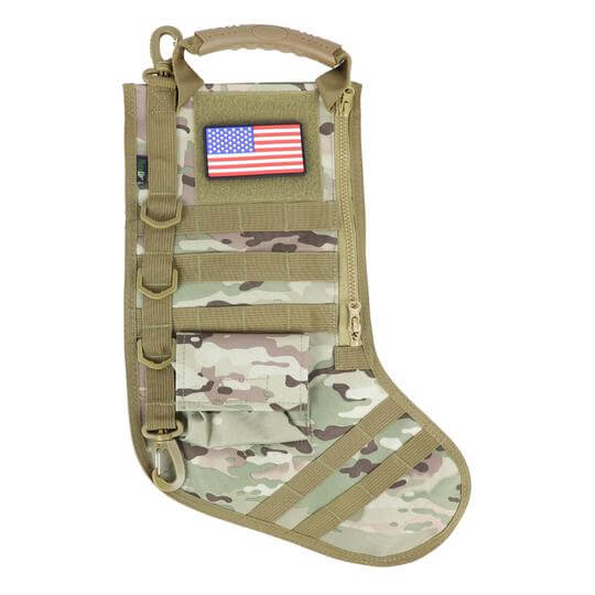 Tactical patriotic Christmas stocking for Dad gift idea.