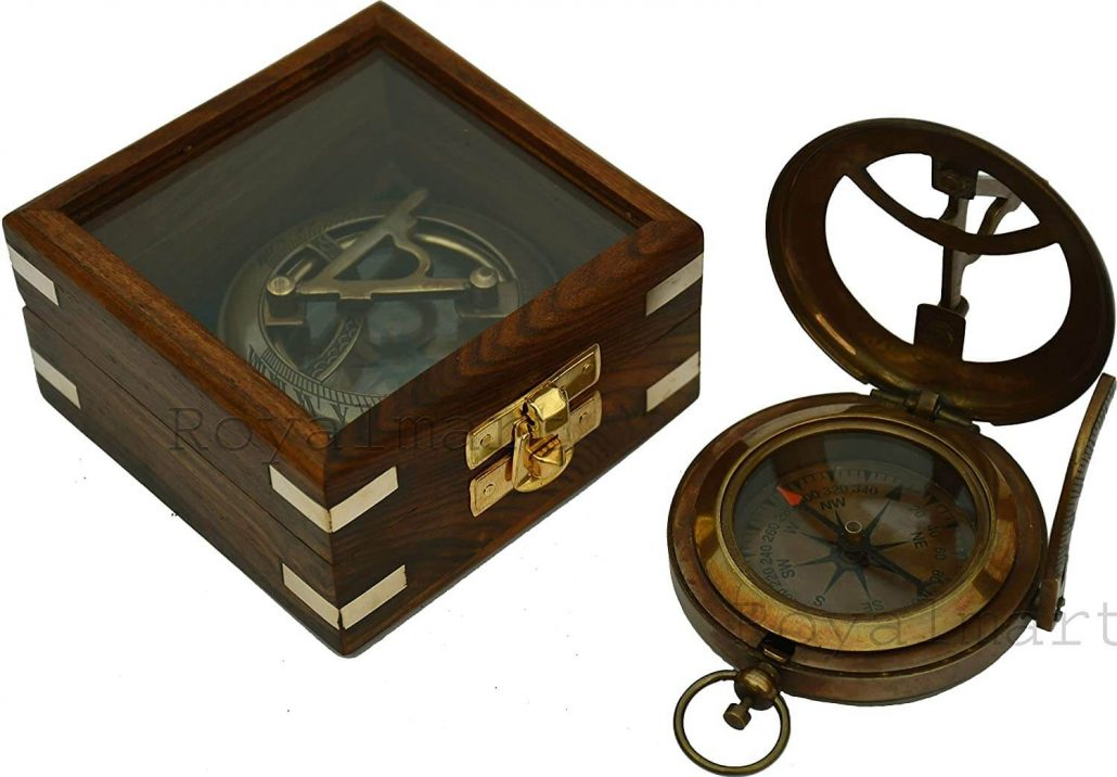 Personalized royal nautical compass a unique Christmas gift idea for Dad.
