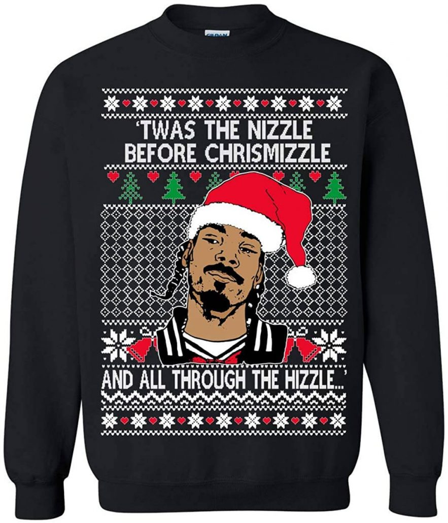 Funny Snoop Dog Christmas sweater for adults.