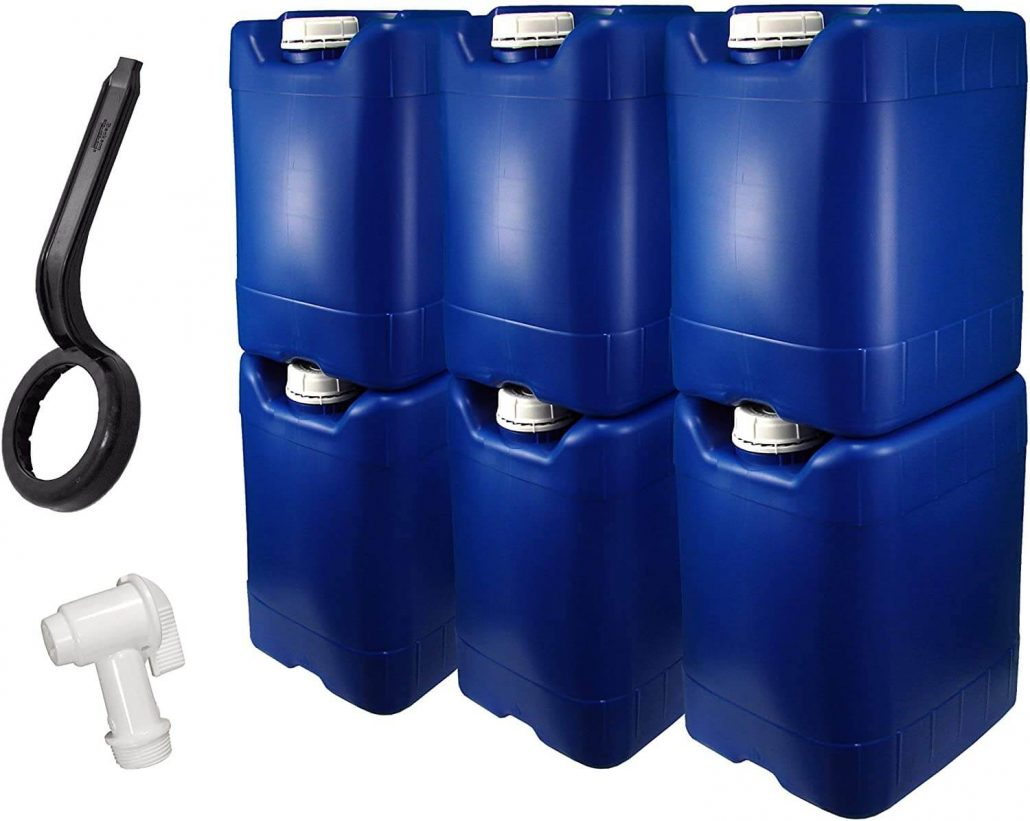 5 gallon emergency water storage containers for home by API Kirk.
